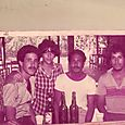 Henry Soto, Richard Báez, (La Flaca), Manuelsito Corina y Luis Báez.
